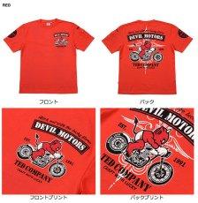 画像4: テッドマン半袖抜染Tシャツ『DEVIL MOTORS 』 (4)