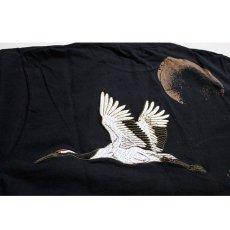 画像4: 【華鳥風月】華鳥風月×いまは昔限定コラボ 月夜に舞う鶴と牡丹Tシャツ【882102 】 (4)