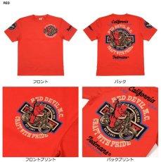 画像3: テッドマン半袖抜染TシャツTDSS-492『RED DEVIL M.C』 (3)