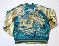画像3: 花旅楽団 SCRIPT 牡丹と獅子刺繍スカジャン SSJ-026 (3)