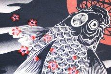 画像4: 【いまは昔別注】波に紋鯉半袖Tシャツ【華鳥櫻×いまは昔】 (4)
