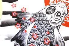 画像7: 【いまは昔別注】波に紋鯉半袖Tシャツ【華鳥櫻×いまは昔】 (7)