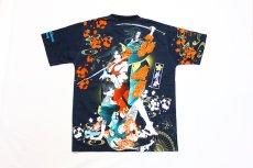 画像2: 抜刀娘 (ばっとうむすめ)3人娘半袖Tシャツ【202830】 (2)