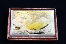 画像2: 彫金 名刺ケース【富士波】 (2)