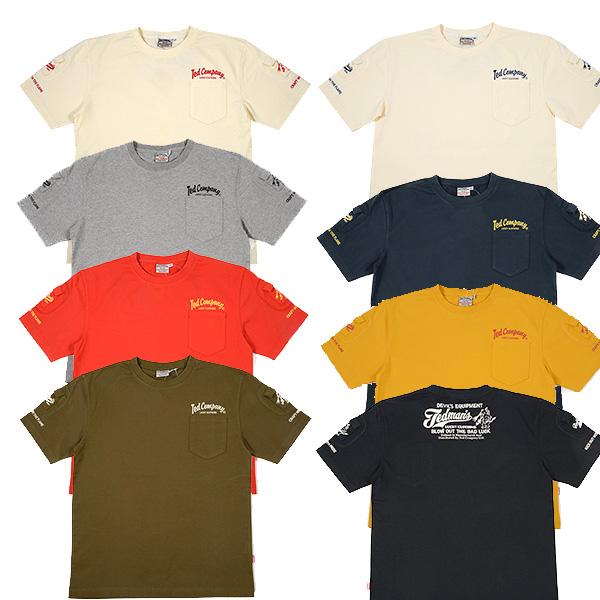 画像1: テッドマンTDSS-470テッドマン初の定番展開する3ポケットTシャツが登場!半袖Tシャツ (1)
