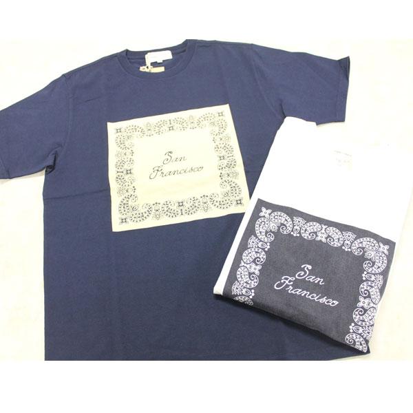 画像1: バンダナプリントTシャツ (1)