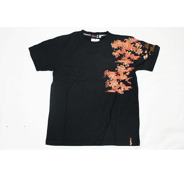 画像1: 抜刀娘 (ばっとうむすめ) 闇夜に一華 半袖Tシャツ【282125】 (1)