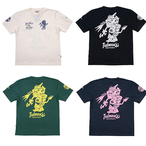画像1: テッドマン半袖抜染Tシャツ『TATTOO 』 (1)