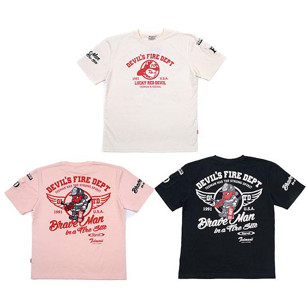 画像1: テッドマン半袖抜染Tシャツ『ファイヤーマン 』 (1)