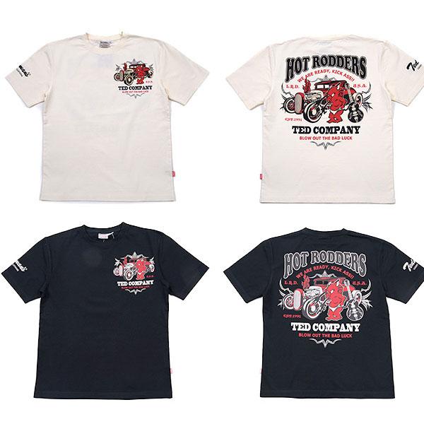 画像1: テッドマン半袖抜染Tシャツ『 HOT ROD 』 (1)