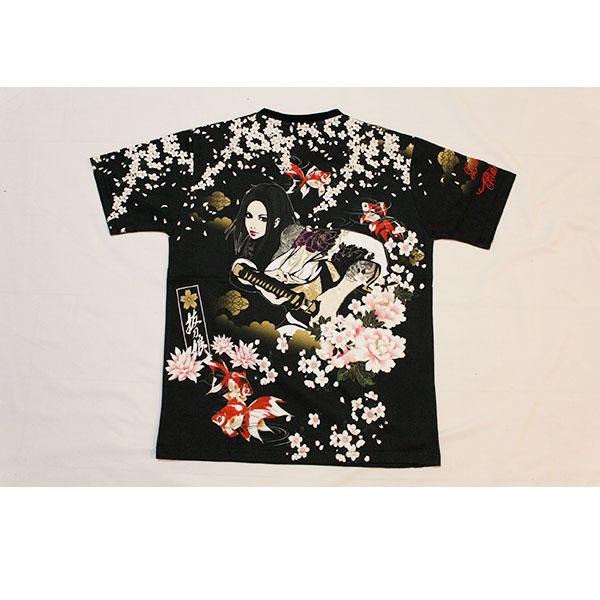 画像1: 抜刀娘 (ばっとうむすめ)凛清爽居合い半袖Tシャツ【292879】 (1)