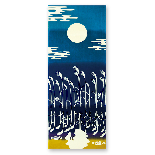 画像1: 日本注染手ぬぐい【kenema】水面月見【日本製】 (1)