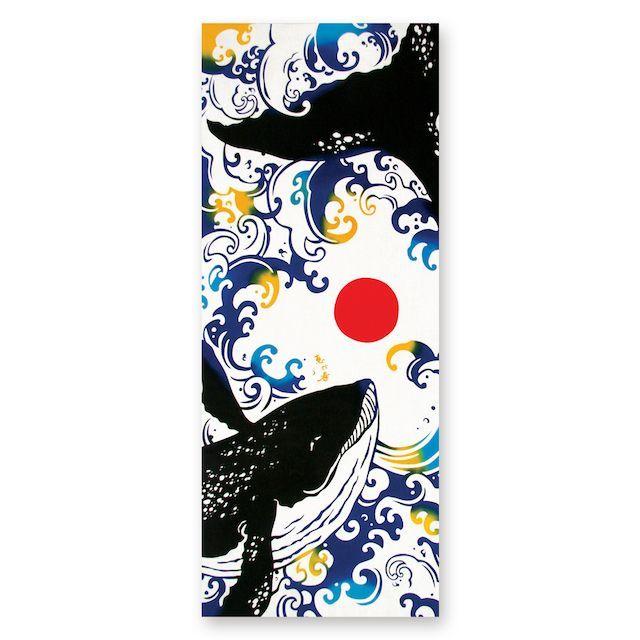 画像1: 日本注染手ぬぐい【kenema】恵比寿鯨【日本製】 (1)
