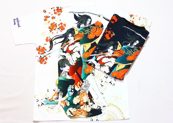 画像1: 抜刀娘 (ばっとうむすめ)3人娘半袖Tシャツ【202830】 (1)
