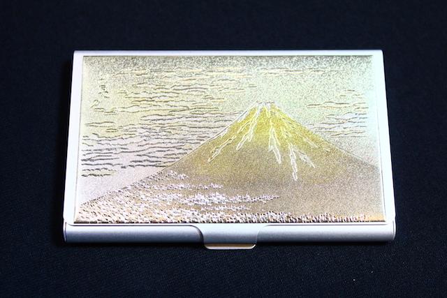 画像1: 彫金 名刺ケース【富士山】 (1)